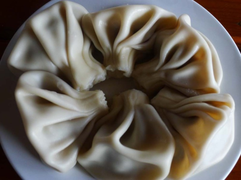 """Khinkali"" are dumplings stuffed with meat or mushroom."