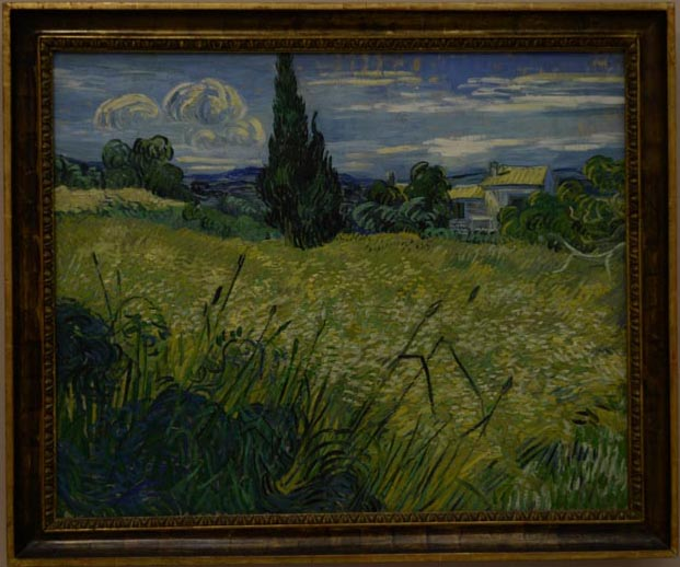 "Van Gogh, ""Wheatfields with Cypress"" 1889."